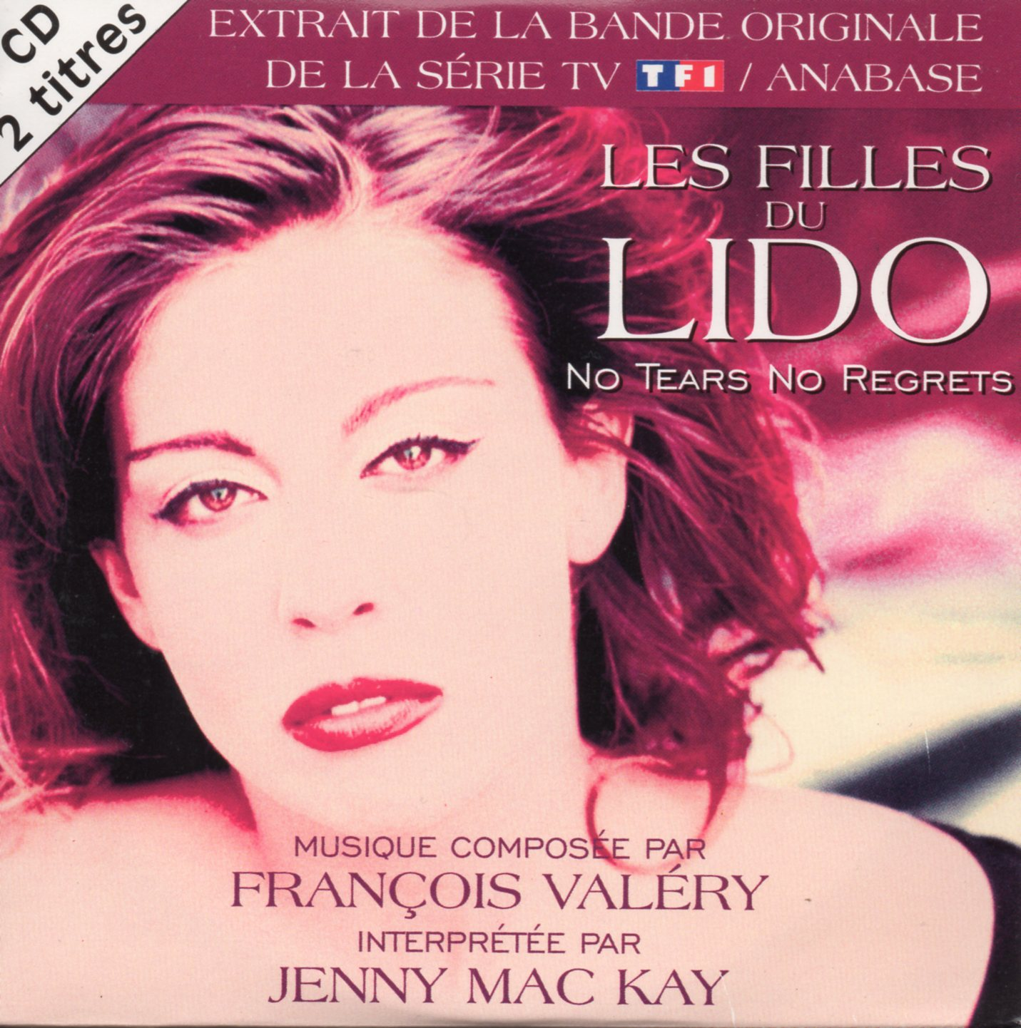 FRANCOIS VALERY - JENNY MAC KAY - SOUNDTRACK : LES - No Tears No Regrets  2-track CARD SLEEVE - CD single