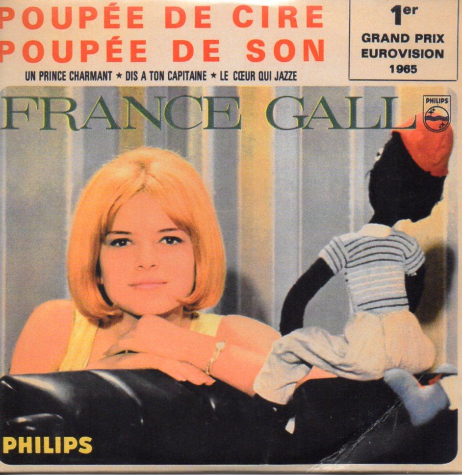 EUROVISION 1965 LUXEMBOURG : FRANCE GALL - Poupée de cire poupée de son - EP REPLICA - 4-TRACK CARD SLEEVE - CD single