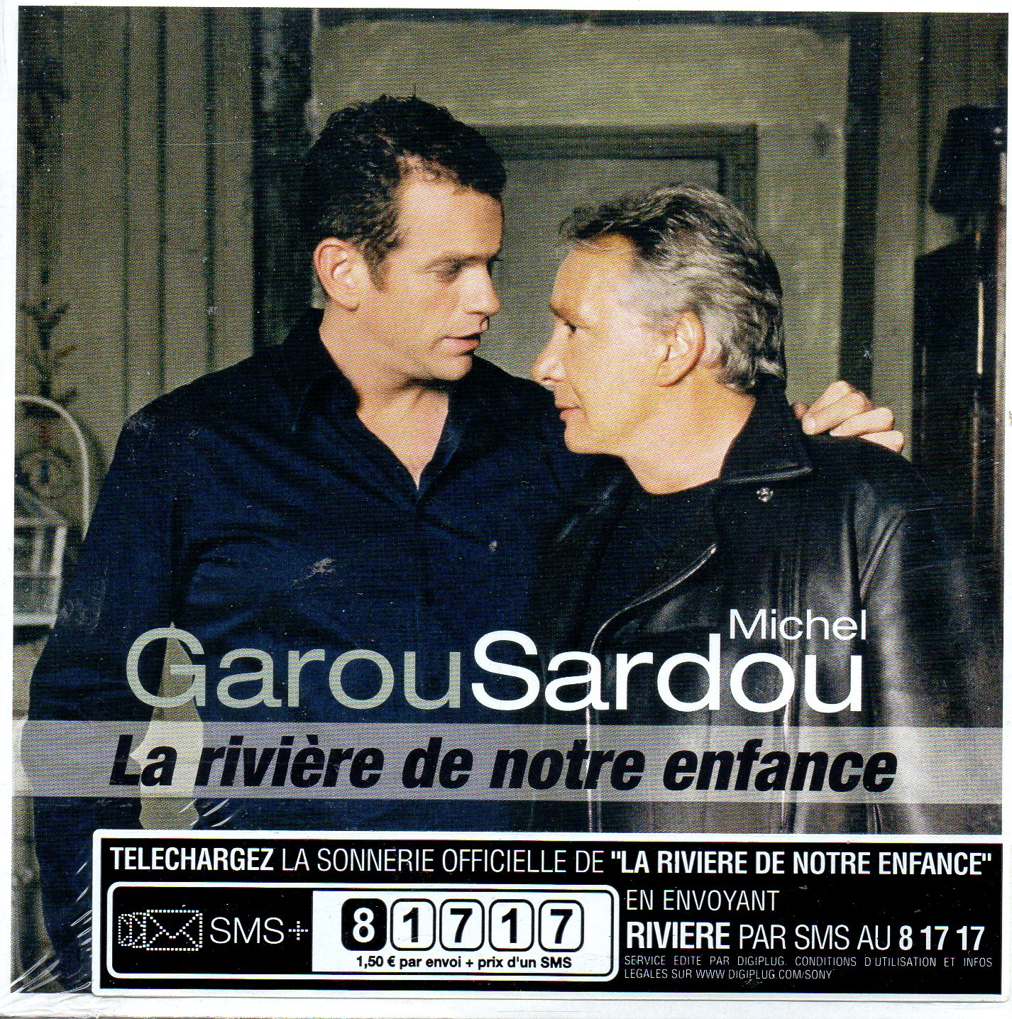 GAROU & MICHEL SARDOU - La riviere de notre enfance 3-track CARD SLEEVE - CD single