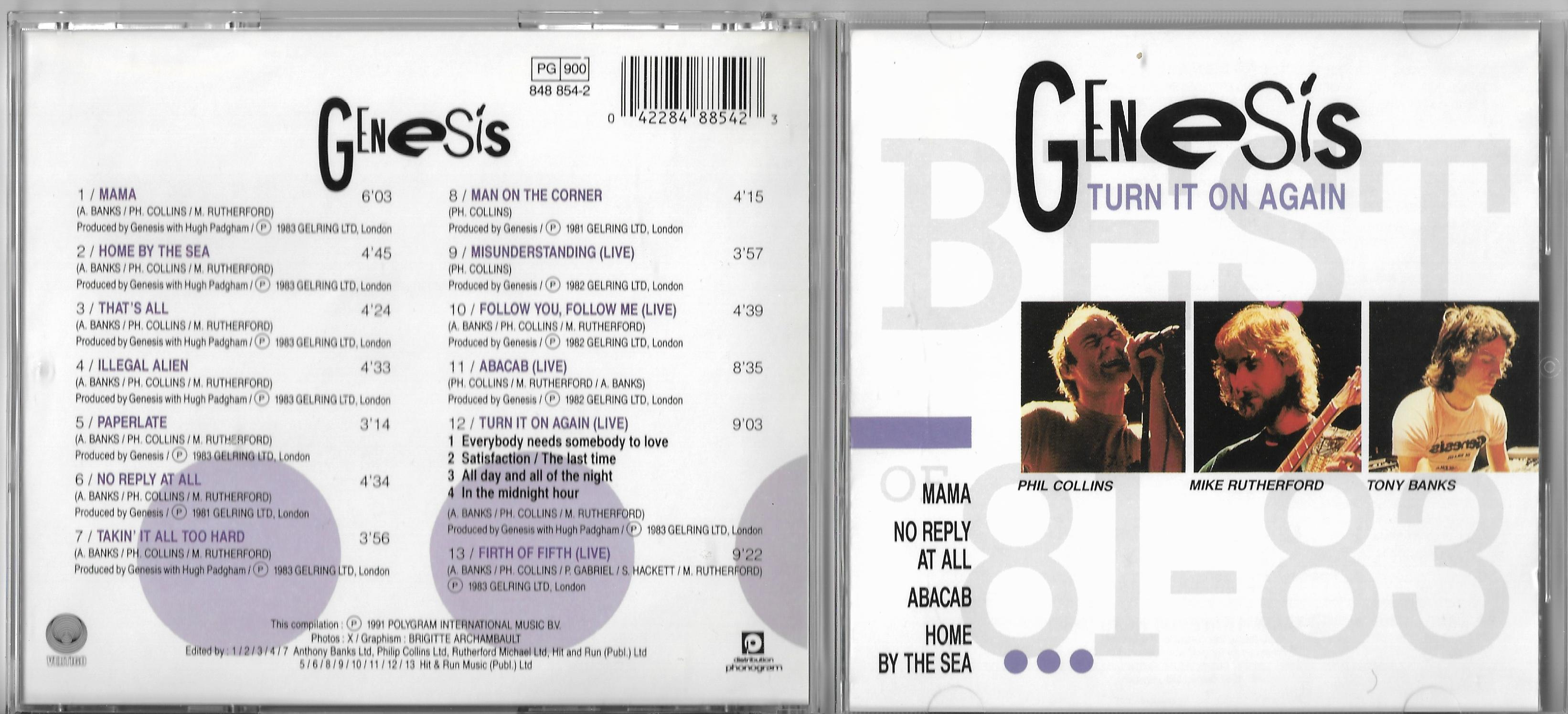 GENESIS - No Son Of Mine CD