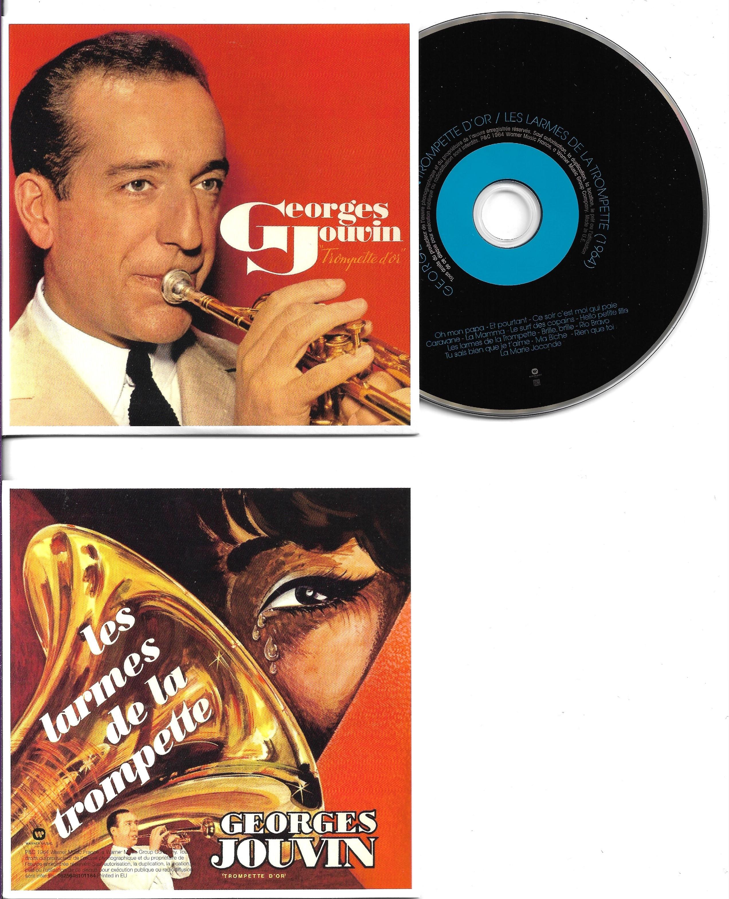 GEORGES JOUVIN - Trompette d'or - Les larmes de la trompette (1964)  - MINI LP REPLICA CARD SLEEVE - 14-TRACK - CD