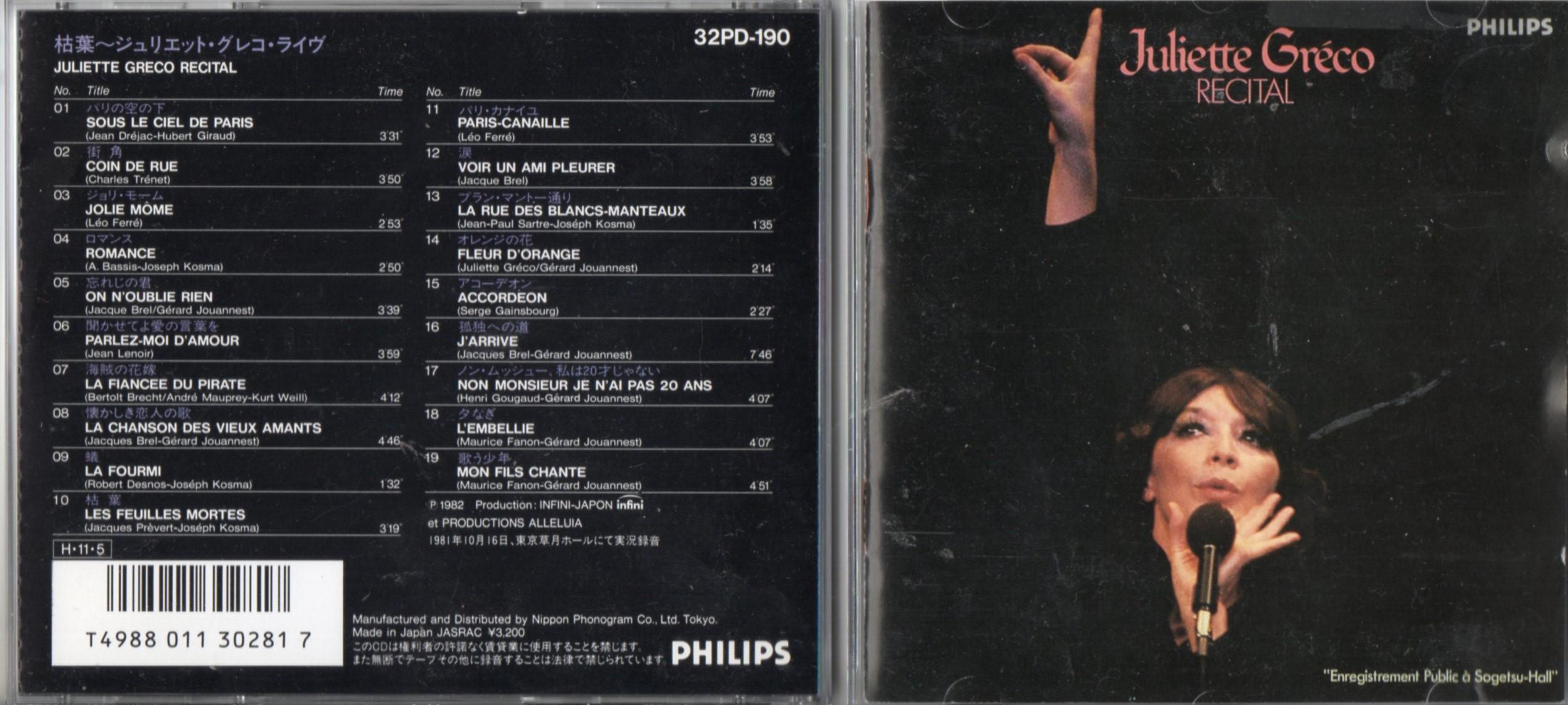 JULIETTE GRÉCO - Jolie Mome 1959 - 1963 - CD