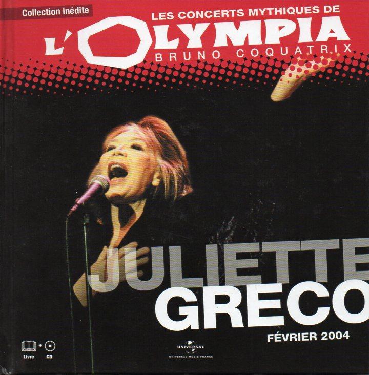 JULIETTE GRÉCO - Olympia Février 2004 - Livre & CD Edition limitée - CD