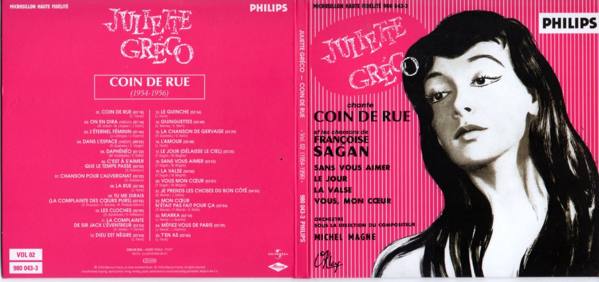 JULIETTE GRÉCO - Coin de rue (1954-1956) Gatefold Card board sleeve - CD