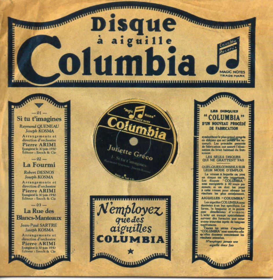 JULIETTE GRÉCO - Premiers enregistrements 1950 3-track CARD SLEEVE - CD single