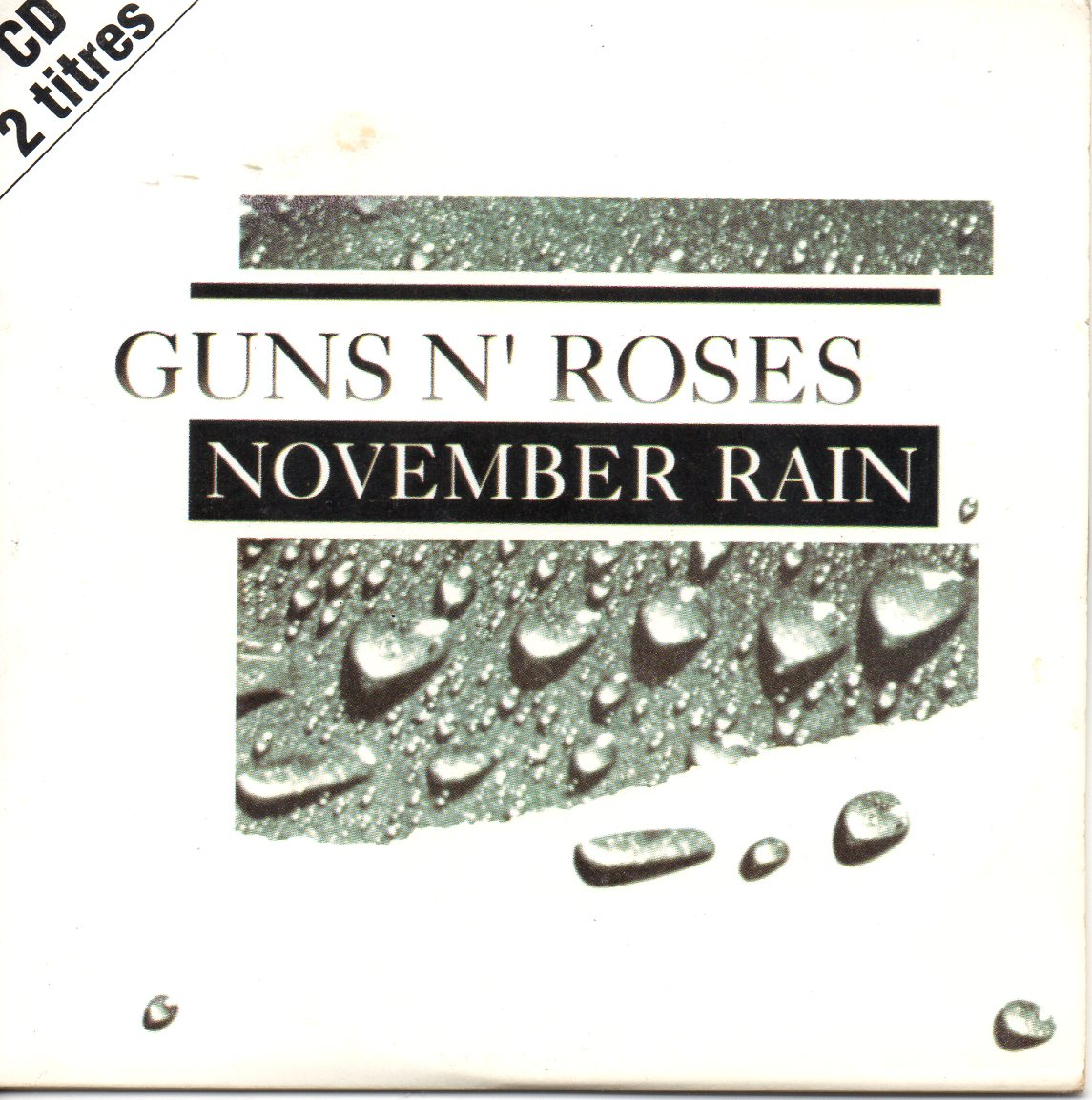 GUNS N' ROSES - November rain 2-Track CARD SLEEVE - CD single