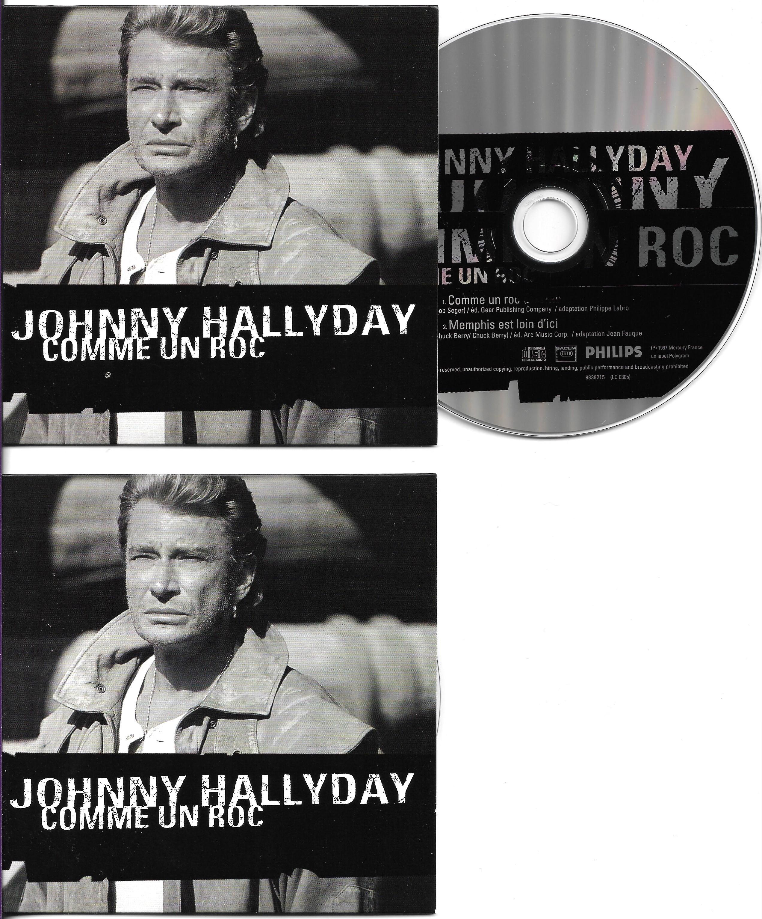 JOHNNY HALLYDAY - Comme un roc 2-track Ltd ed CARD SLEEVE - CD single