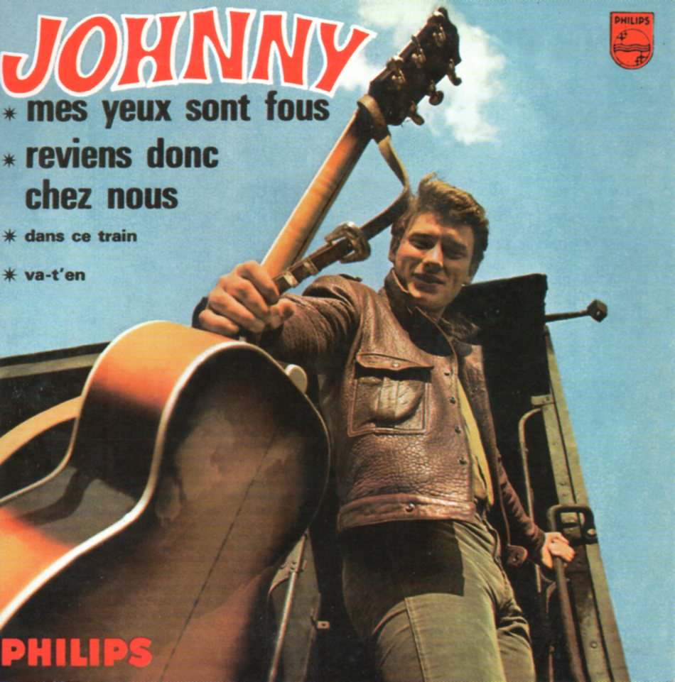 JOHNNY HALLYDAY - Mes yeux sont fous EP REPLICA CARD SLEEVE 4-track - CD single