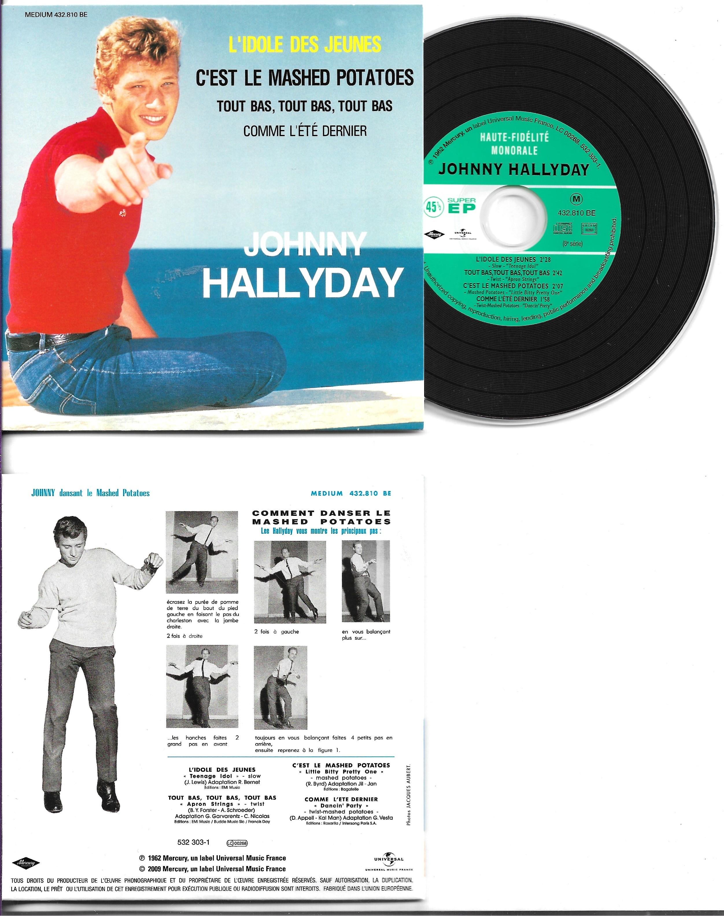 JOHNNY HALLYDAY - L'idole des jeunes EP REPLICA 4-track CARD SLEEVE - CD single