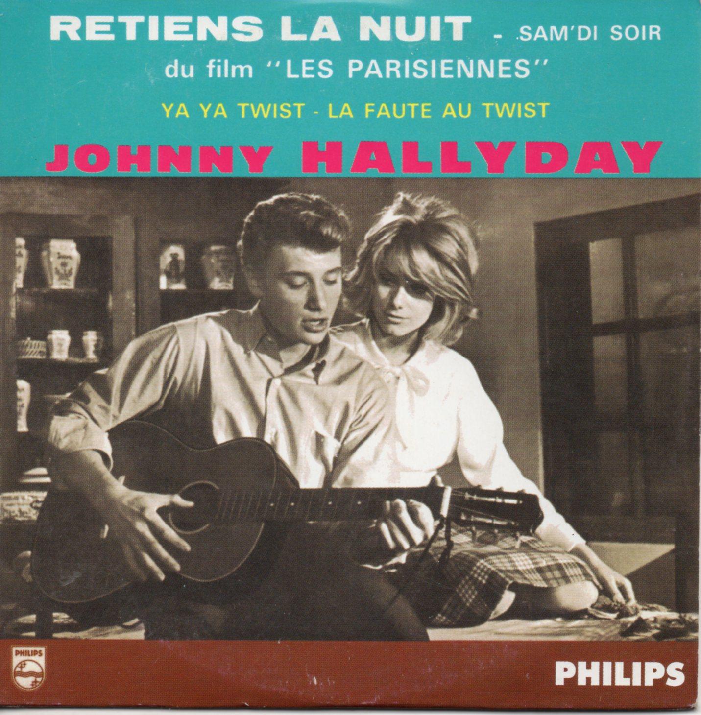 JOHNNY HALLYDAY - CATHERINE DENEUVE - SOUNDTRACK : - Retiens la nuit 4-track CARD SLEEVE  Edition numérotée avec code barre 1er tirage - CD single