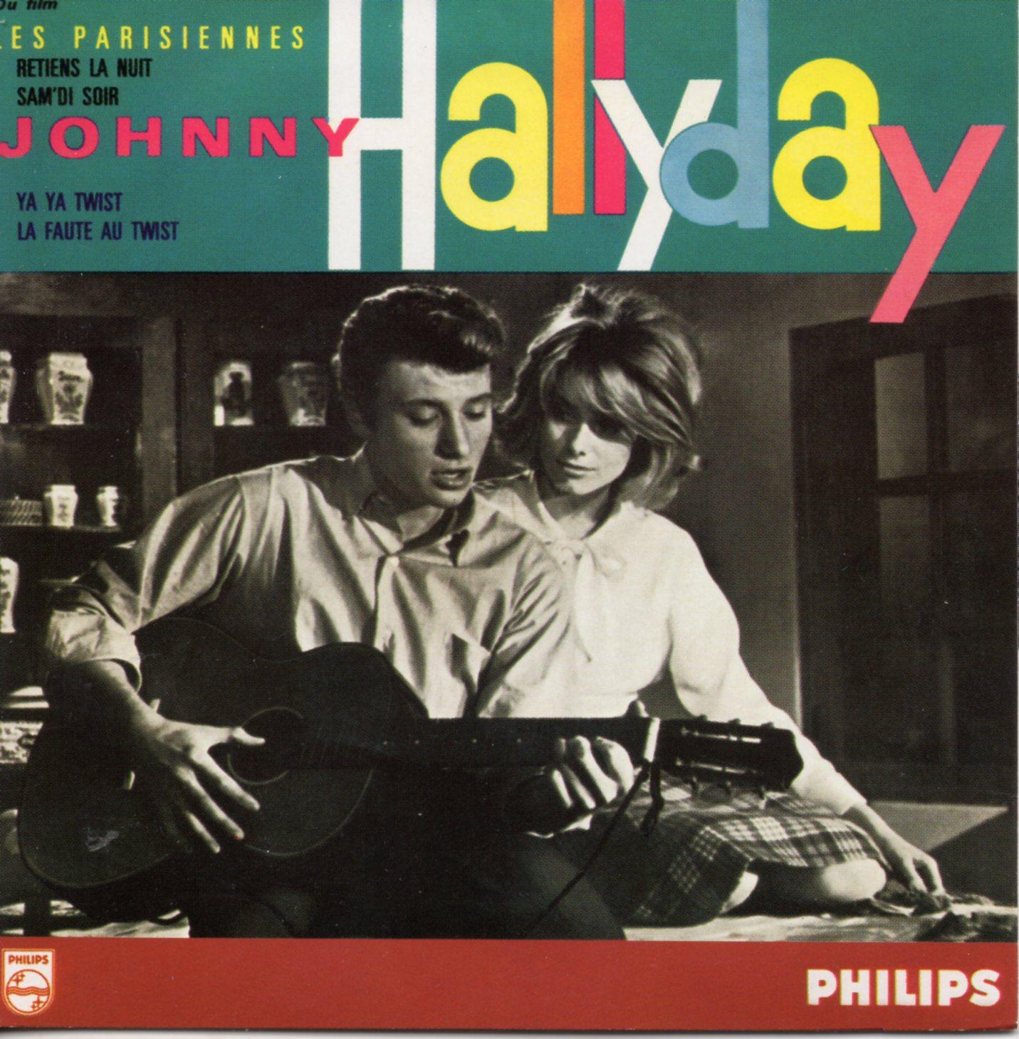 JOHNNY HALLYDAY - CATHERINE DENEUVE - SOUNDTRACK : - Retiens la nuit 4-track CARD SLEEVE 2ème Pochette - CD single
