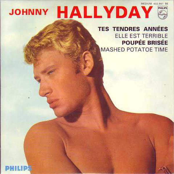 JOHNNY HALLYDAY - Tes tendres annees 4-track CARD SLEEVE - CD single