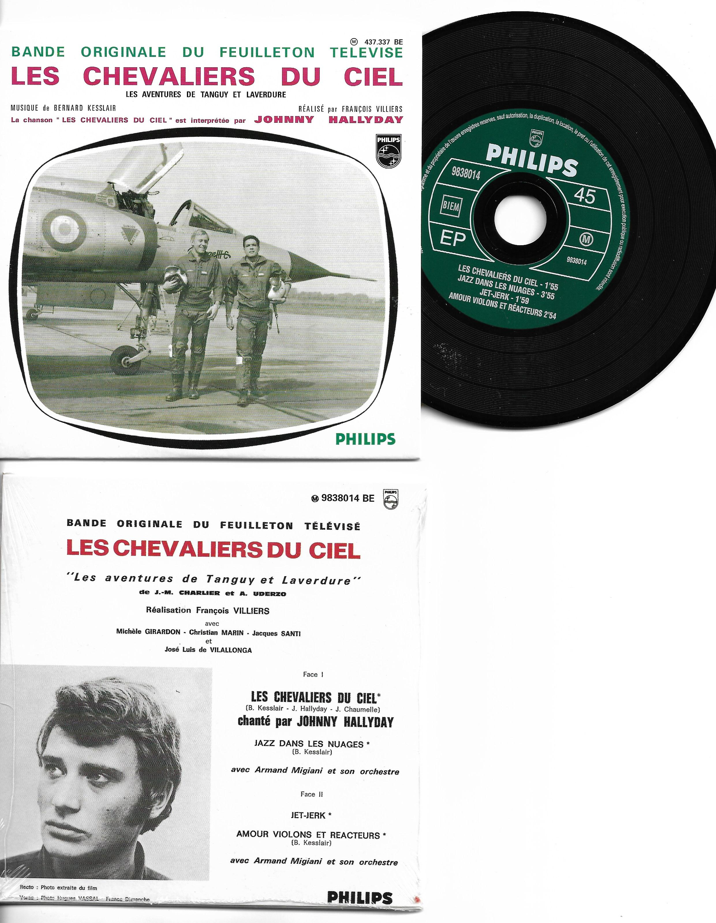 JOHNNY HALLYDAY - SOUNDTRACK : LES CHEVALIERS DU C - Les chevaliers du ciel - ltd ed CARD SLEEVE 4-track - CD single