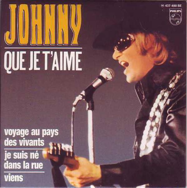 JOHNNY HALLYDAY - Que je t'aime 4-track CARD SLEEVE - CD single