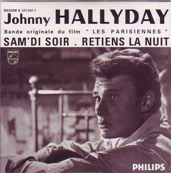JOHNNY HALLYDAY - CATHERINE DENEUVE - SOUNDTRACK : - Retiens la nuit 2-track Ltd ed reissue CARD SLEEVE - CD single
