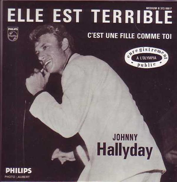 JOHNNY HALLYDAY - Elle est terrible 2-track CARD SLEEVE - CD single