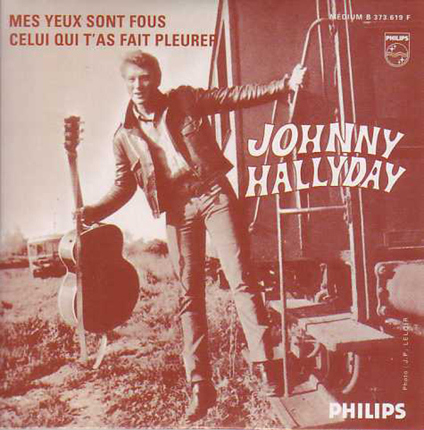 JOHNNY HALLYDAY - Mes yeux sont fous 2-track CARD SLEEVE - CD single