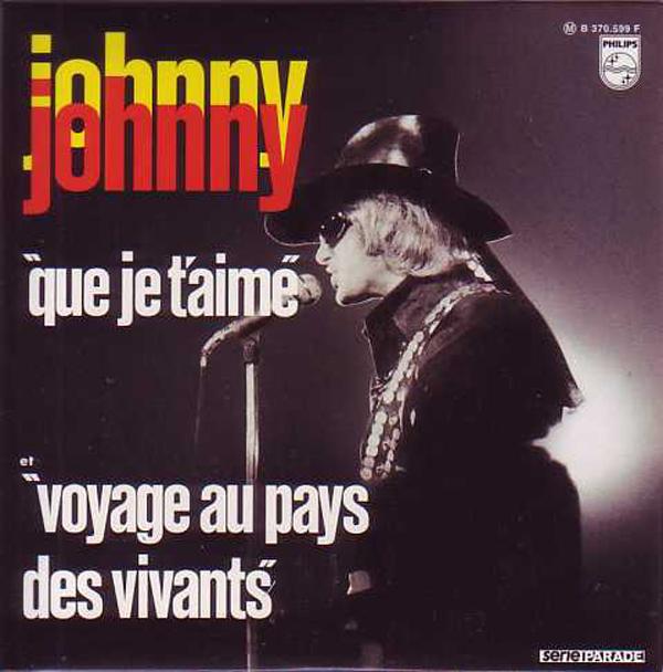 JOHNNY HALLYDAY - Que je t'aime 2-track CARD SLEEVE - CD single