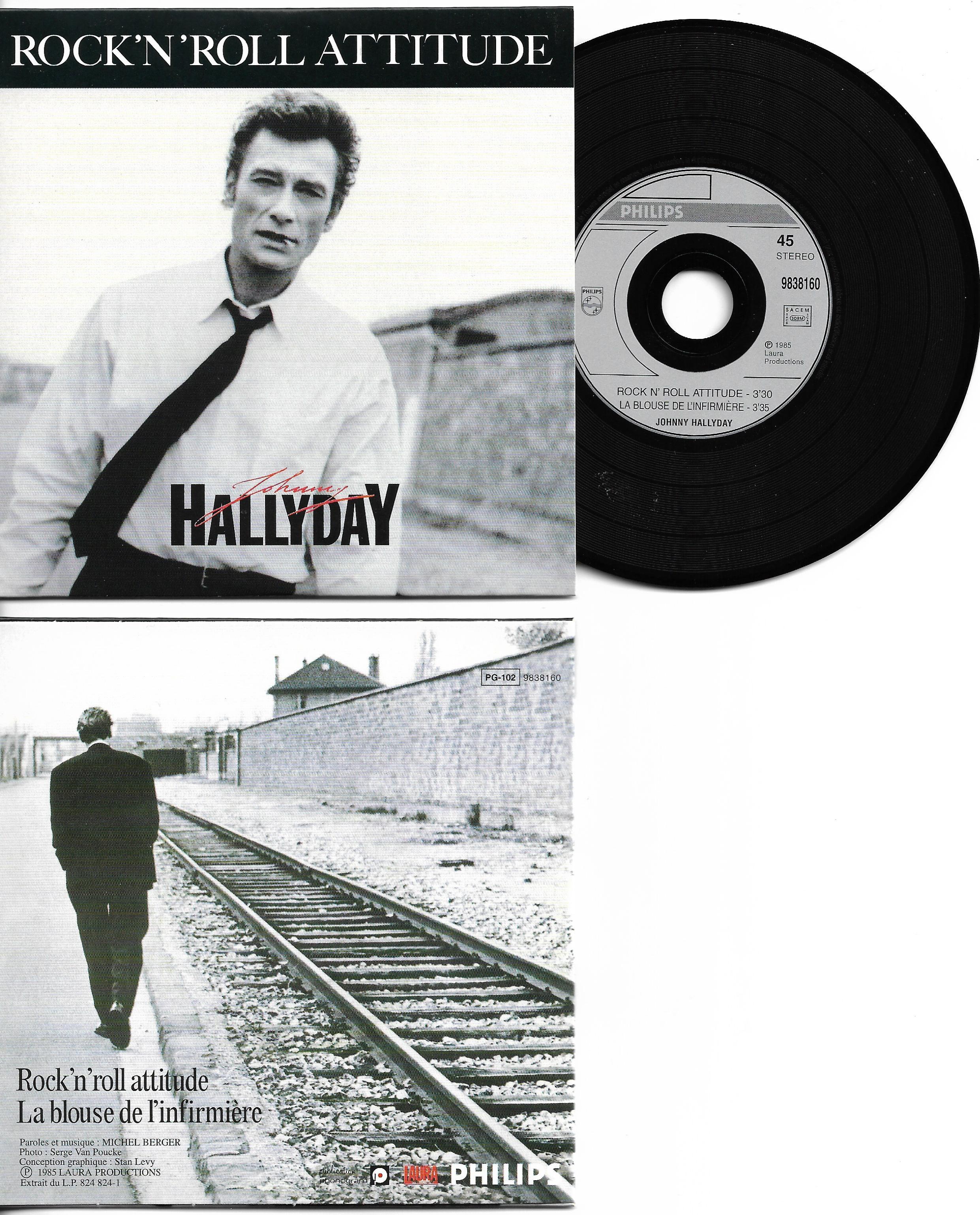 JOHNNY HALLYDAY - Rock'n'roll attitude CARD SLEEVE 2-track - CD single