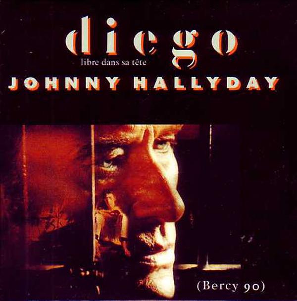 JOHNNY HALLYDAY - Diego libre dans sa tête 3-track CARD SLEEVE - CD single