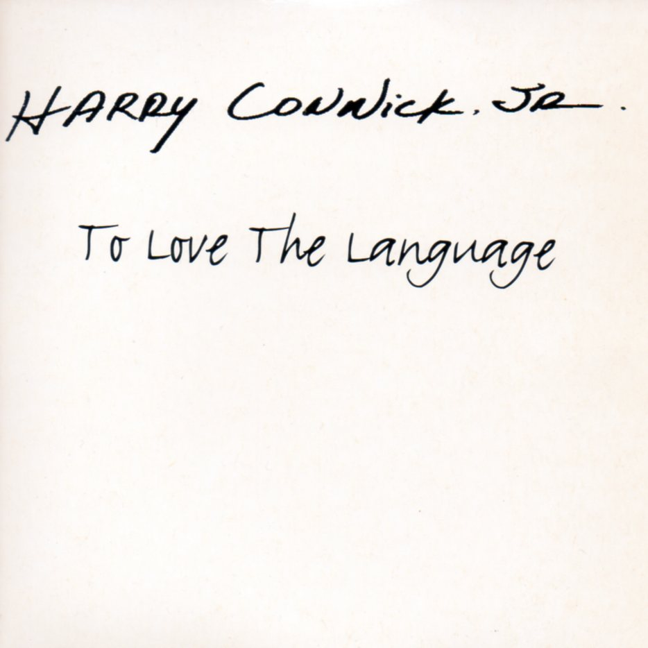 HARRY CONNICK JR. - To love the language 1-Track CARD SLEEVE - CD single