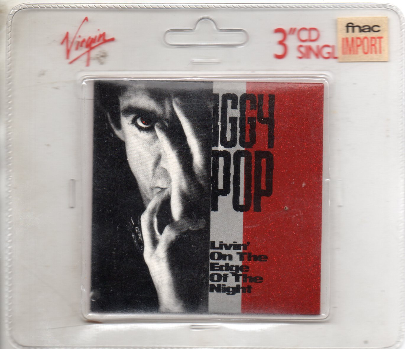 Iggy POP - Livin' On The Edge Of The Night 1990 Uk 4-track 3""