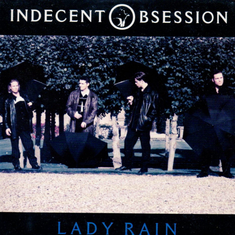 INDECENT OBSESSION - Lady Rain 1-track CARD SLEEVE - CD single