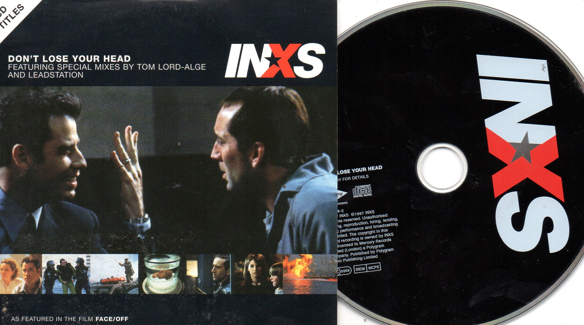 INXS - Don't Lose Your Head 2-track Card Sleeve Soundtrack Face / Off