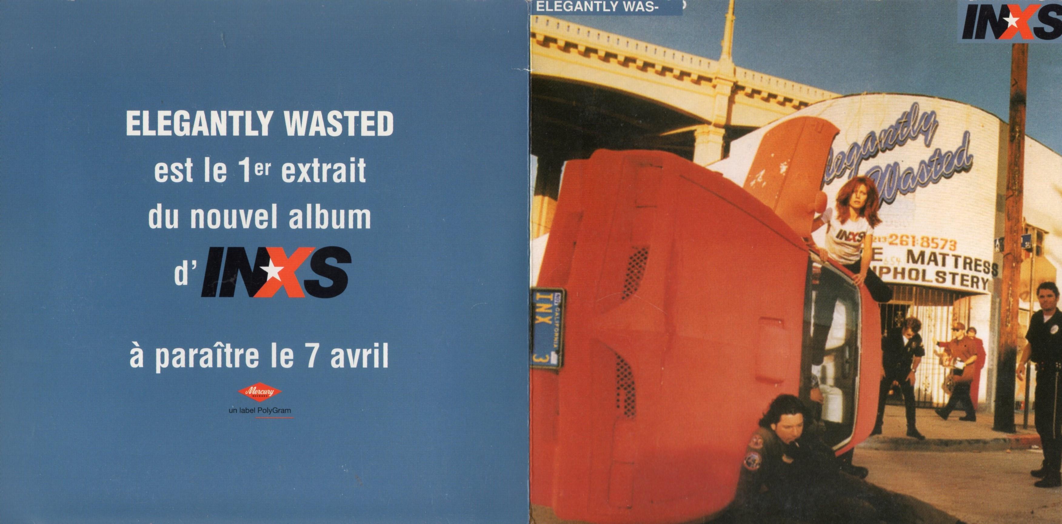INXS - Elegantly Wasted - French Promo 1-track Gatefold sleeve - CD single