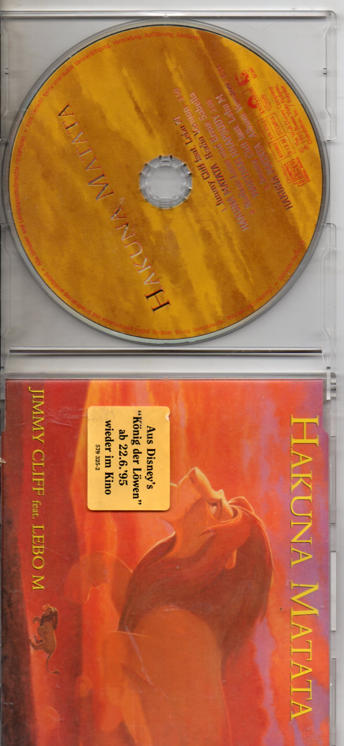 JIMMY CLIFF - Hakuma Matana 3 tracks jewel case - CD Maxi