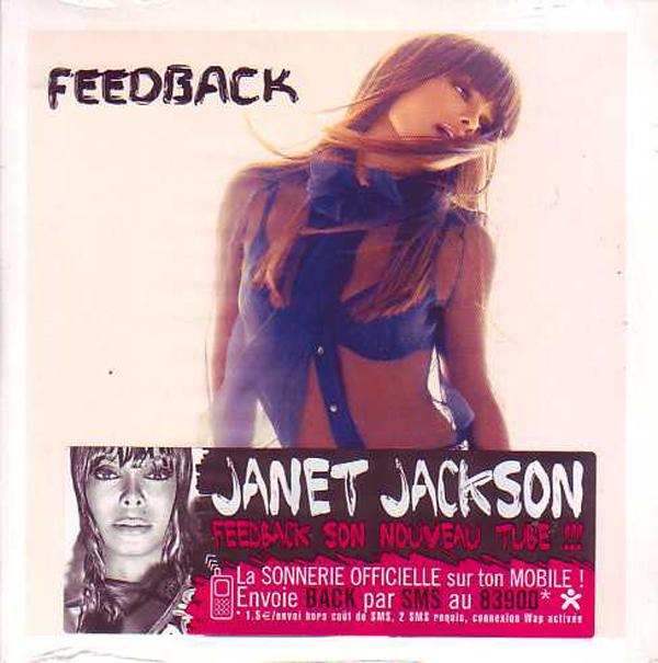 JANET JACKSON - Feedback 2-track CARD SLEEVE - Sticker - CD single