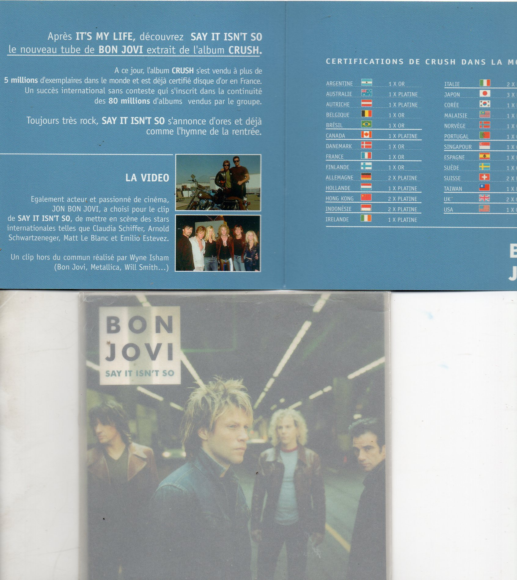 BON JOVI - These days promo 2-Track jewel case with spanish sticker - CD Maxi