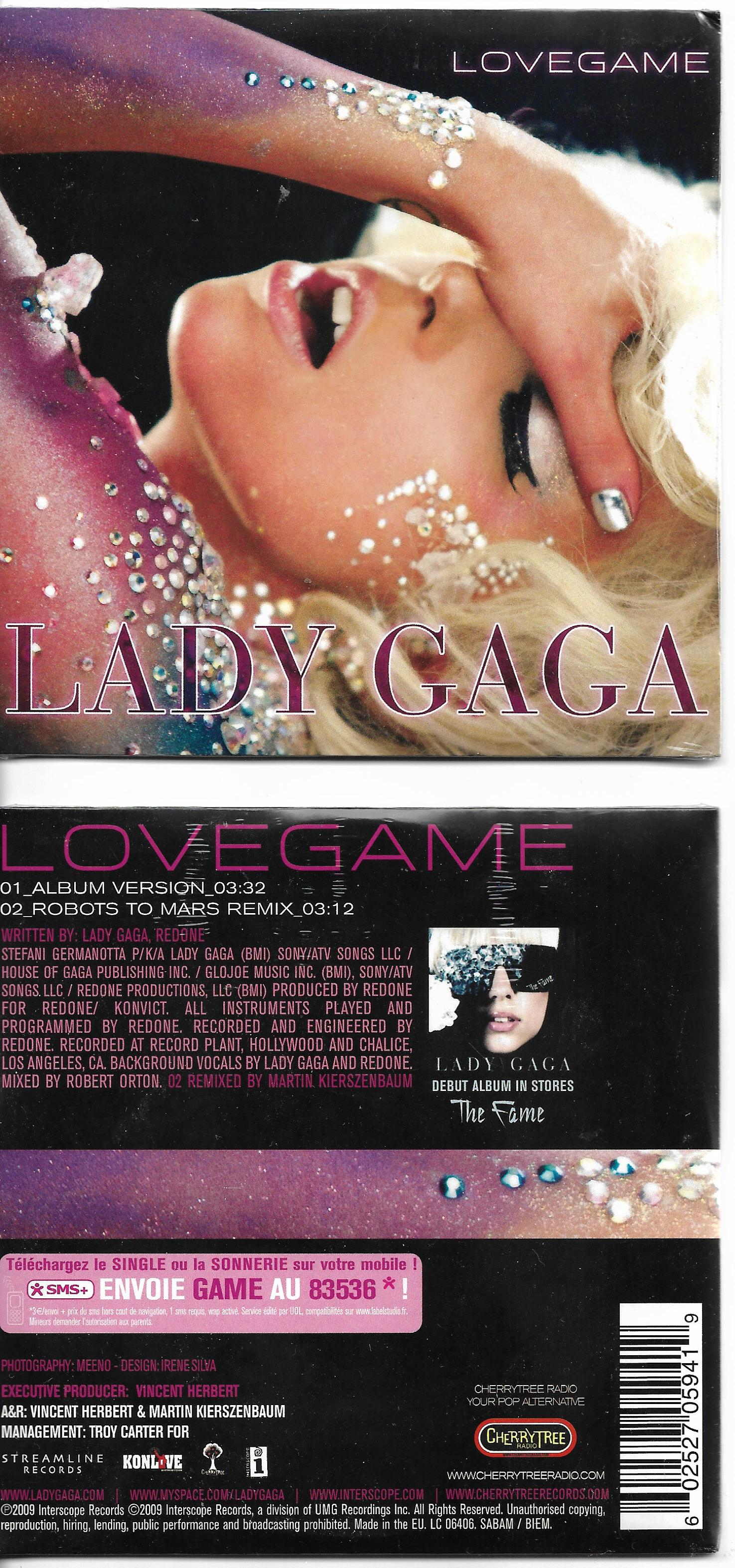 LADY GAGA - Lovegame 2-track CARD SLEEVE - France - - CD single