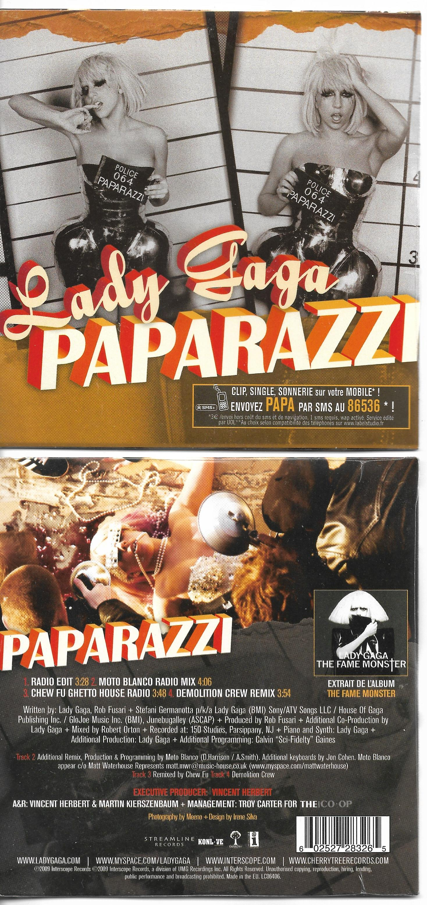 Lady GAGA - Paparazzi Card Sleeve 4 Tracks