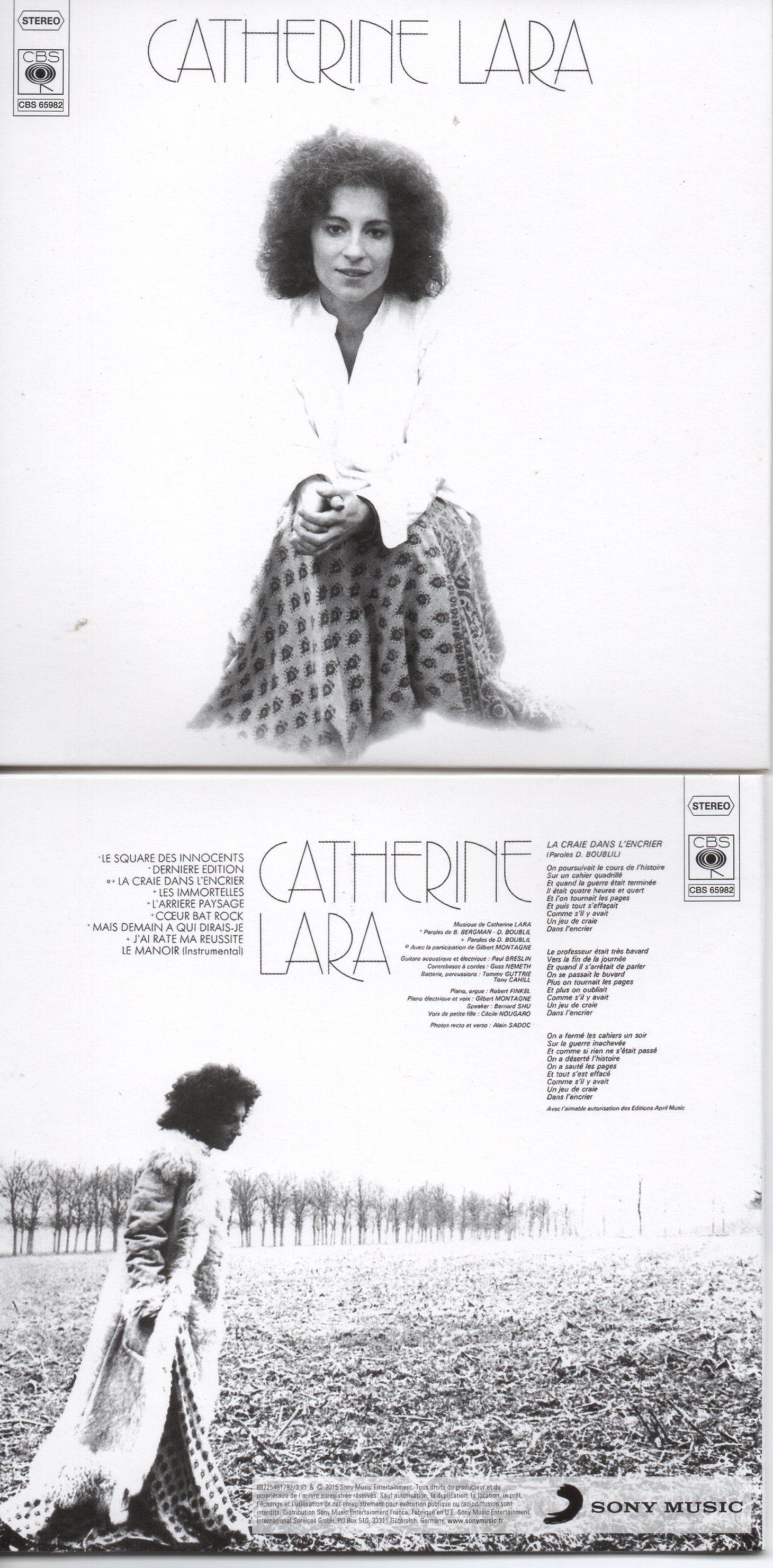 CATHERINE LARA - La craie dans l'encrier - MINI LP REPLICA - 9-TRACK CARD SLEEVE - Pochette Cartonnée - CD
