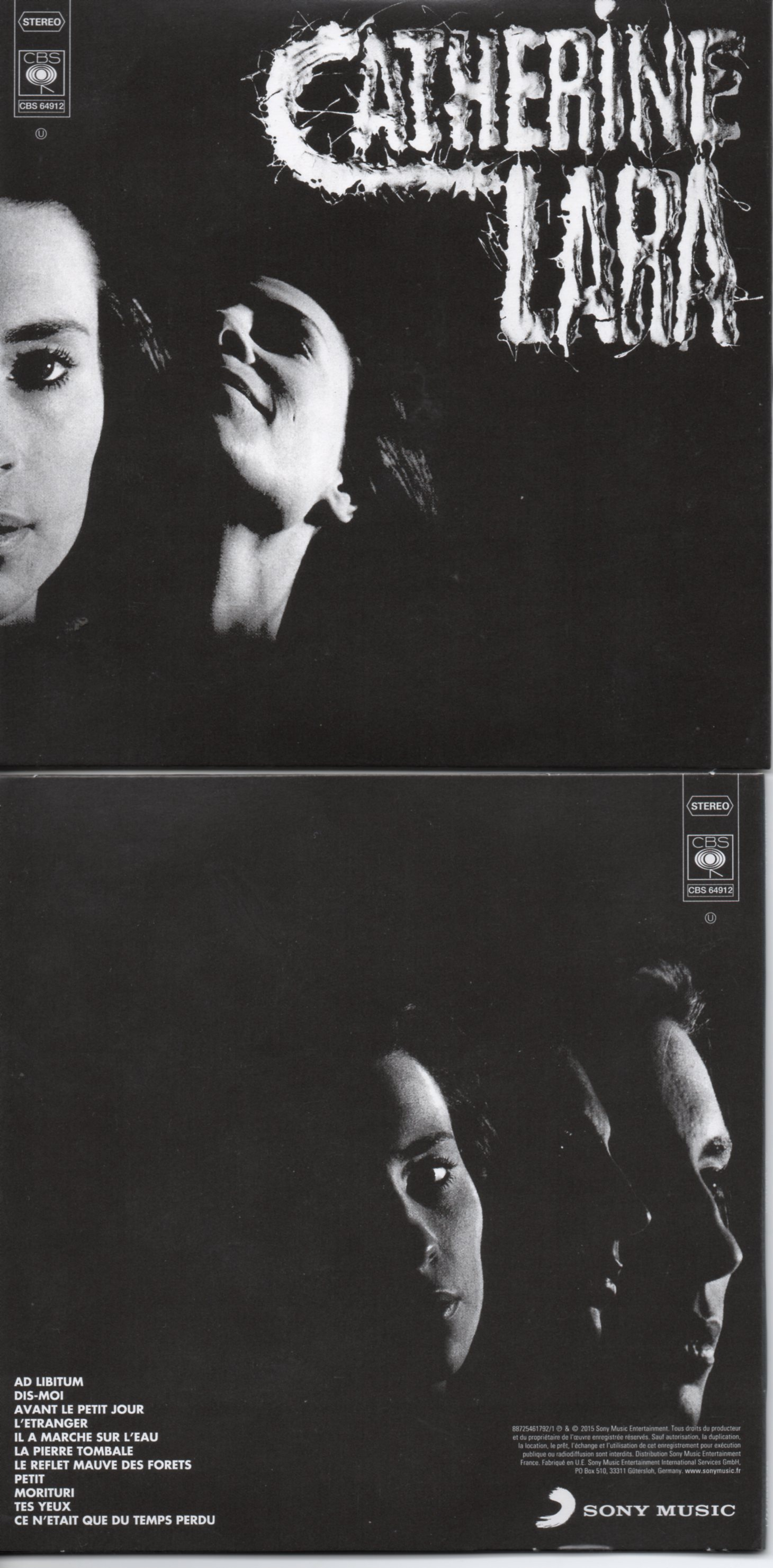 CATHERINE LARA - Ad Libitum - MINI LP REPLICA - 11-TRACK CARD SLEEVE - Pochette Cartonnée - CD