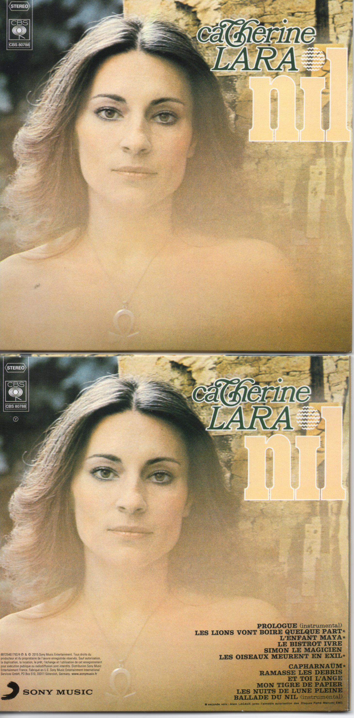 CATHERINE LARA - Nil - MINI LP REPLICA - 12-TRACK CARD SLEEVE - Pochette Cartonnée - CD