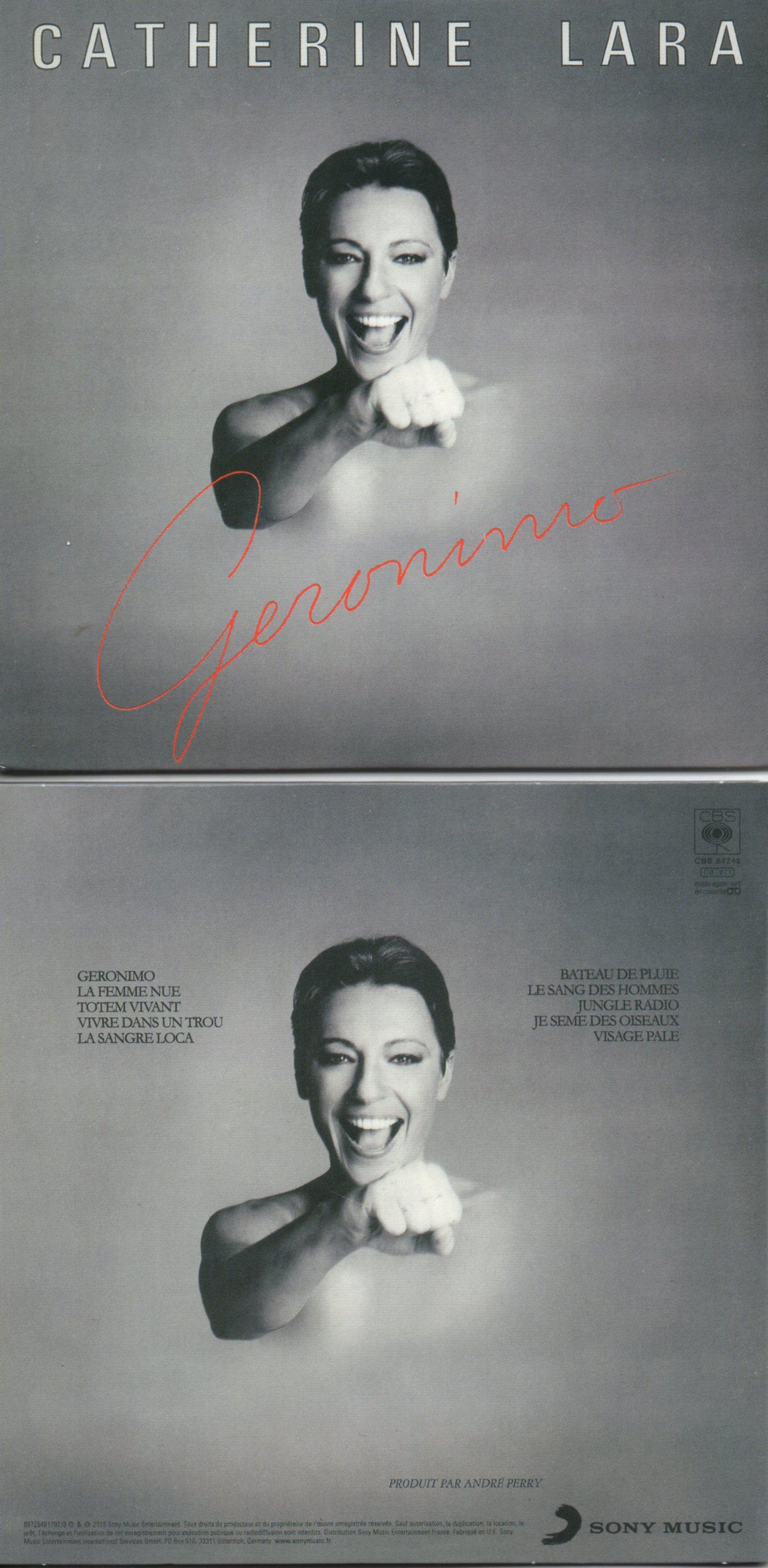 CATHERINE LARA - Geronimo - MINI LP REPLICA - 10-TRACK CARD SLEEVE - Pochette Cartonnée - CD