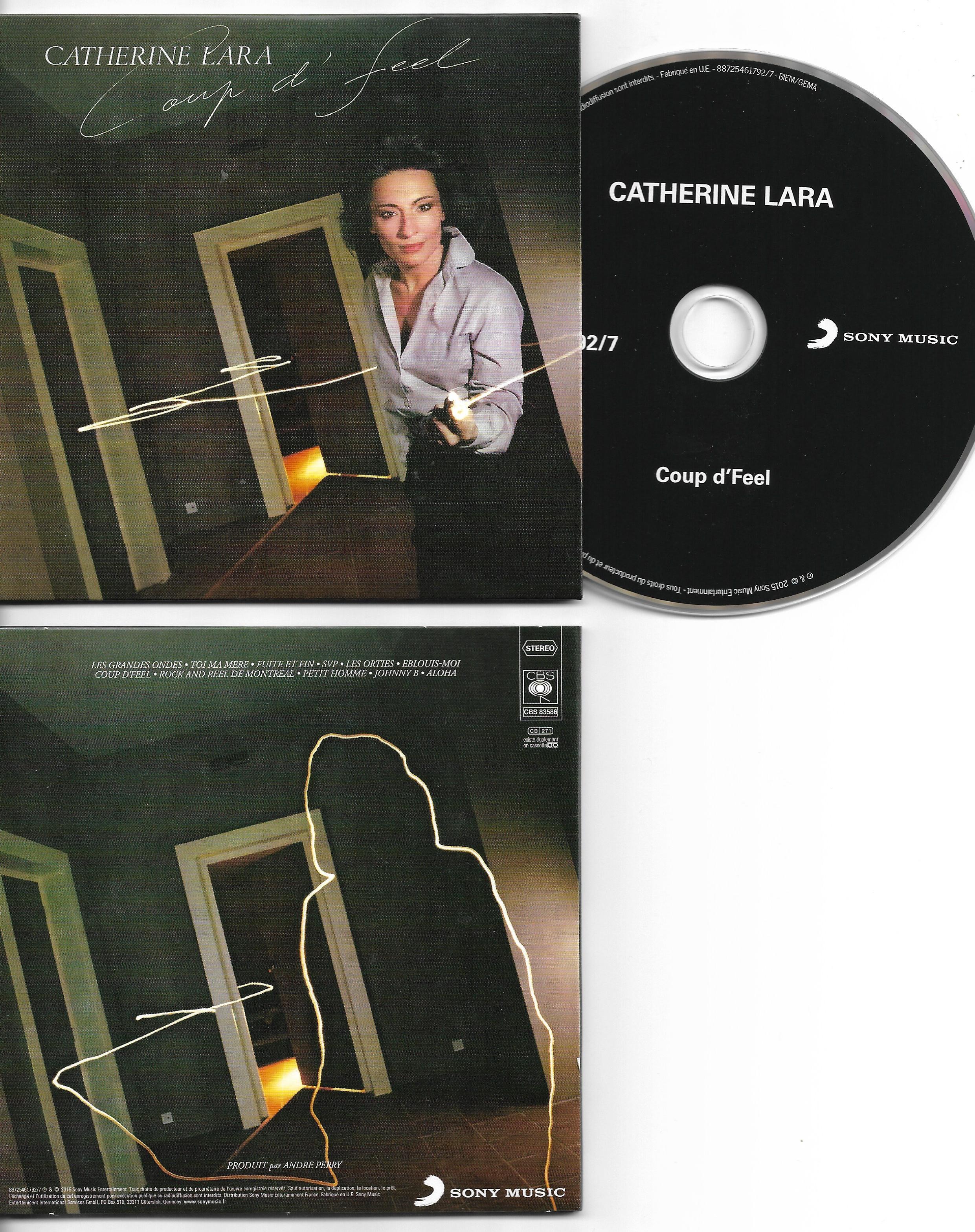 CATHERINE LARA - Coup d'feel - MINI LP REPLICA - 11-TRACK CARD SLEEVE - Pochette Cartonnée - CD