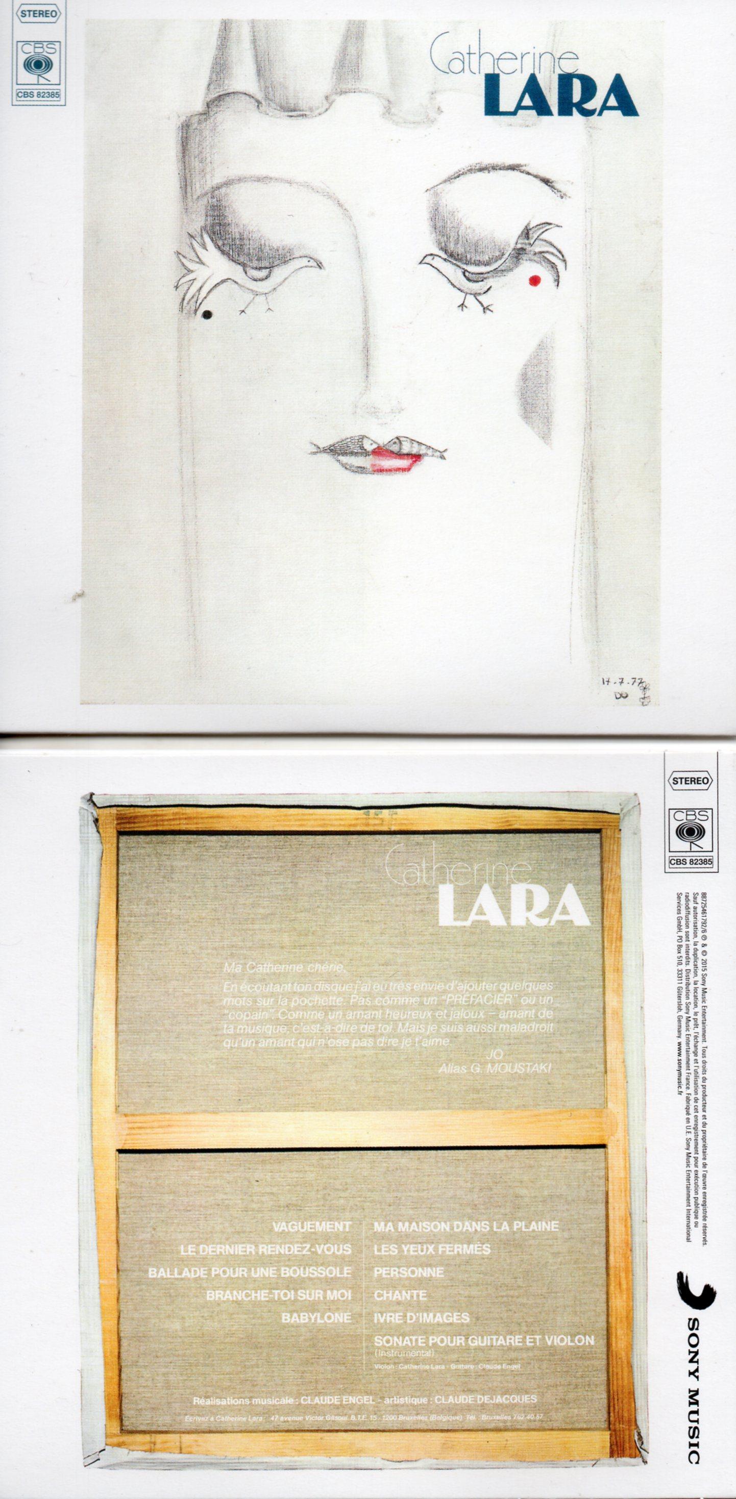 CATHERINE LARA - Vaguement - MINI LP REPLICA - 11-TRACK CARD SLEEVE - Pochette Cartonnée - CD