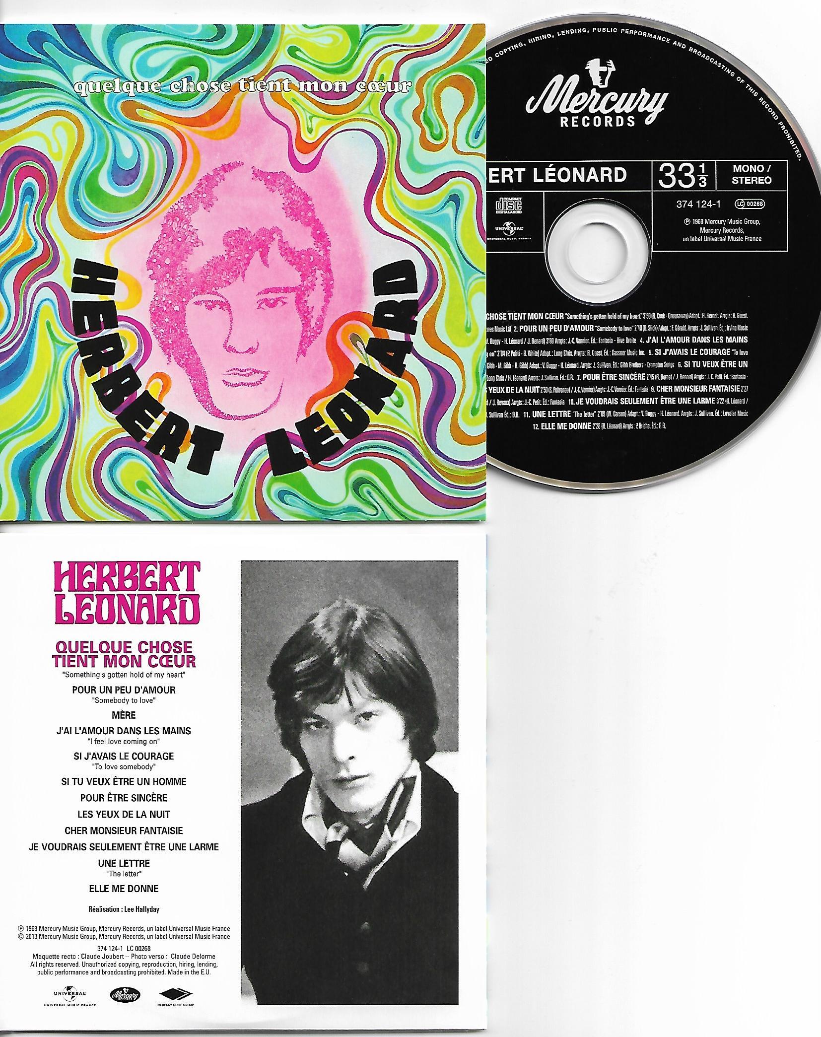 HERBERT LÉONARD - Quelque chose tient mon coeur - MINI LP REPLICA CARD SLEEVE -12 -TRACK - CD