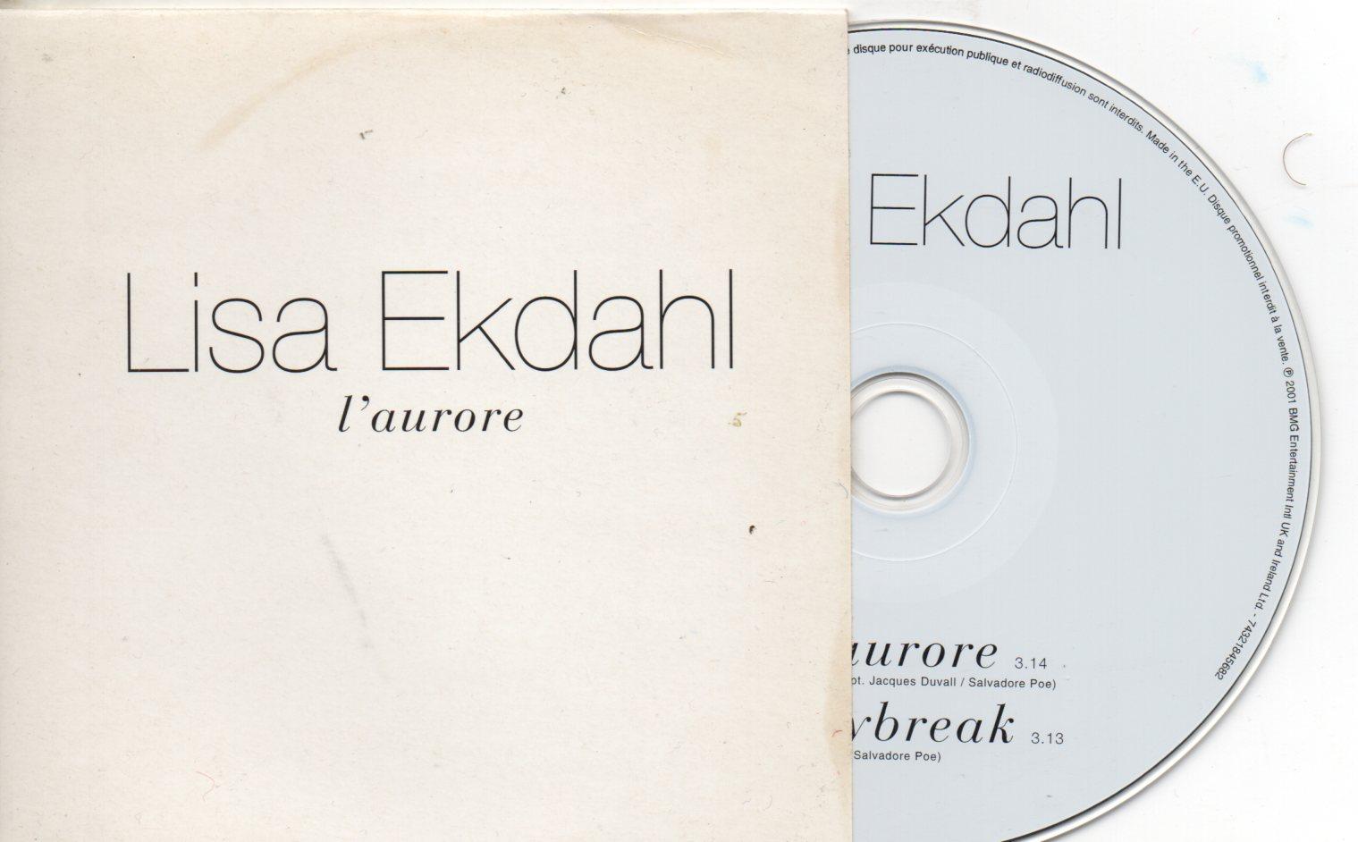 LISA EKDAHL - L'Aurore - Daybreak French Promo 2-track CARD SLEEVE - CD single