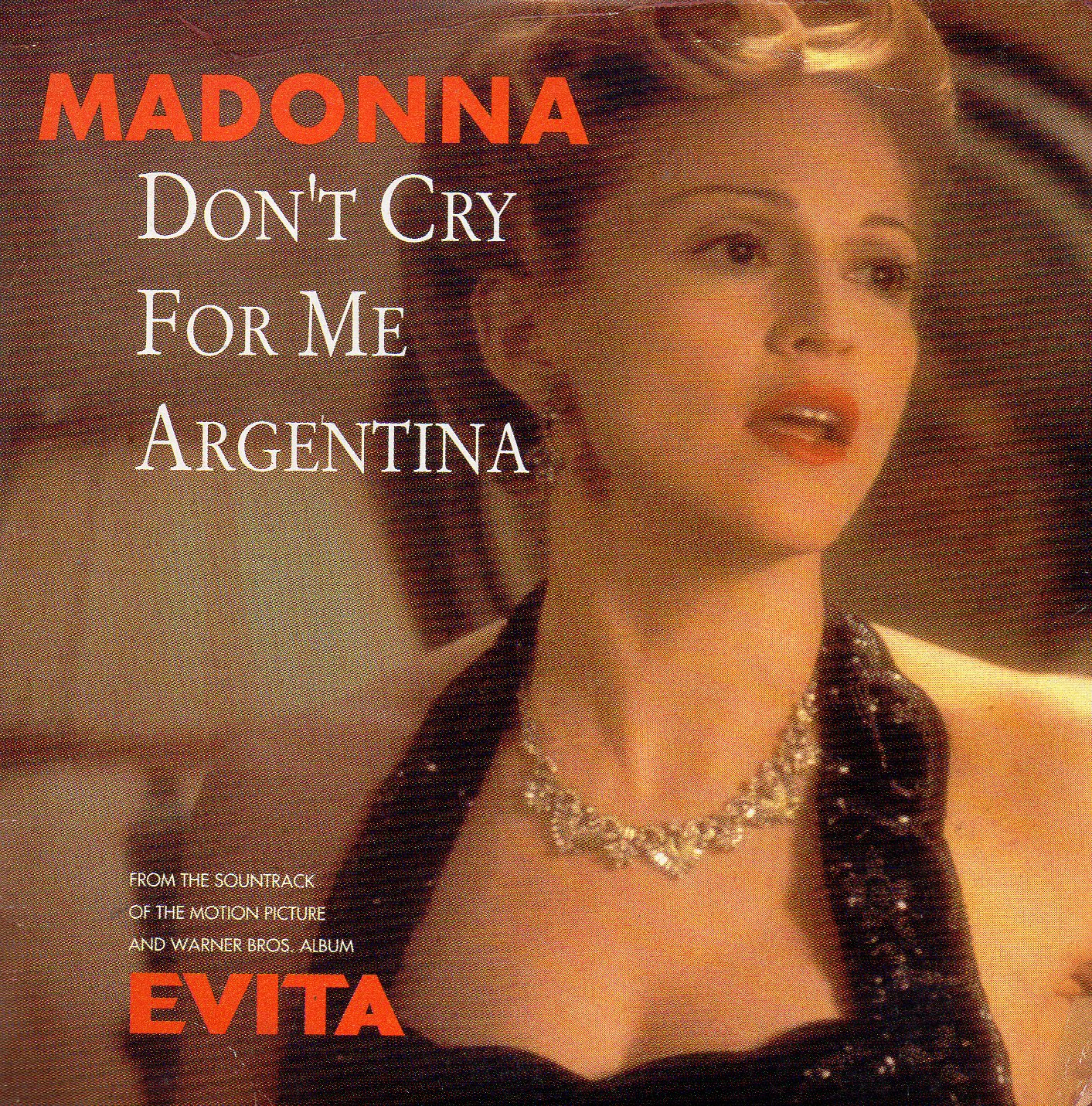 MADONNA - Don't Cry For Me Argentina - U.s. Promo Issue - Miami Mix Edit 4:29/radio Edit 4:50/miami Spanglish