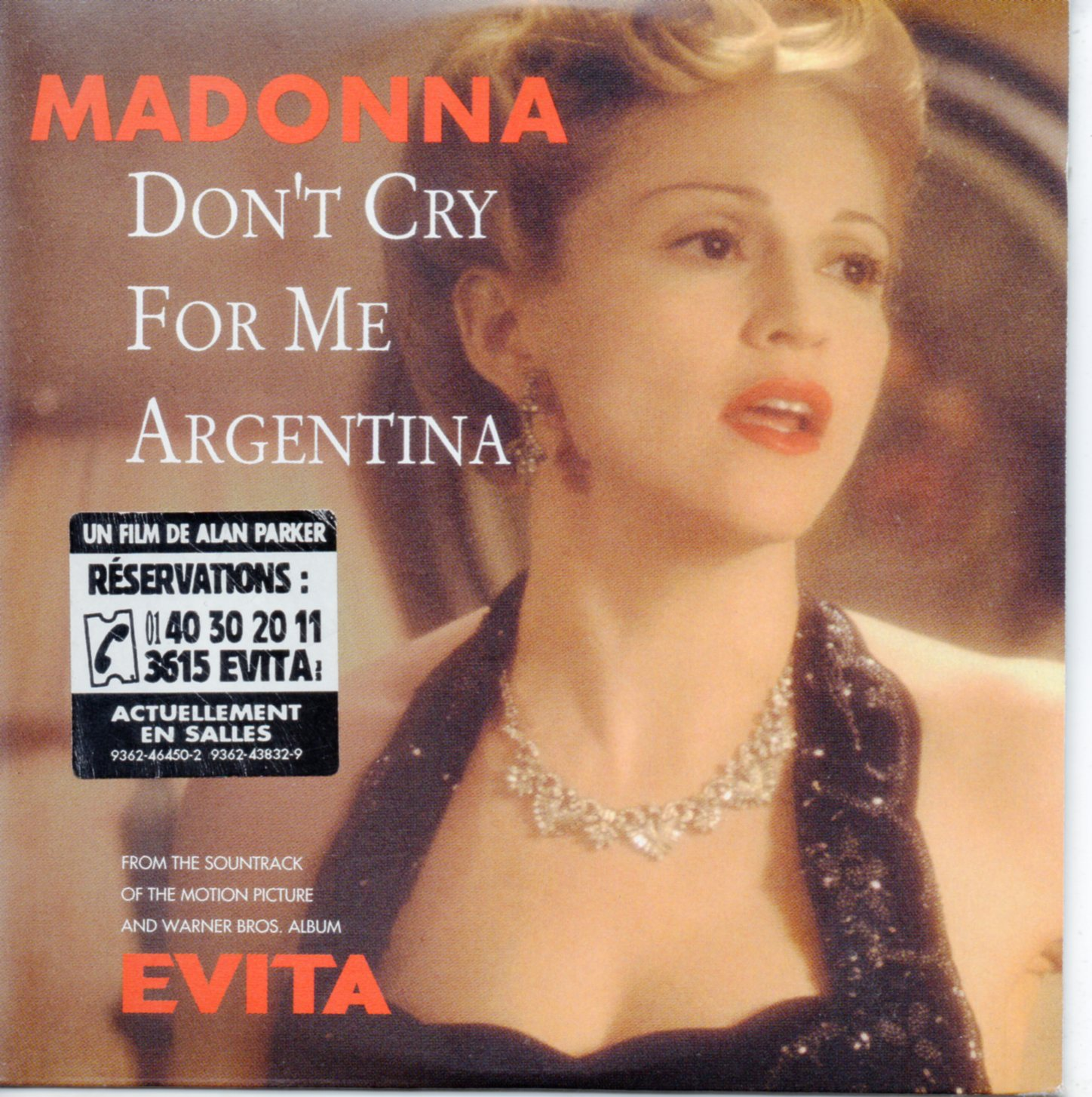 MADONNA - Don't cry for me Argentina 4-Track CARD SLEEVE - CD single