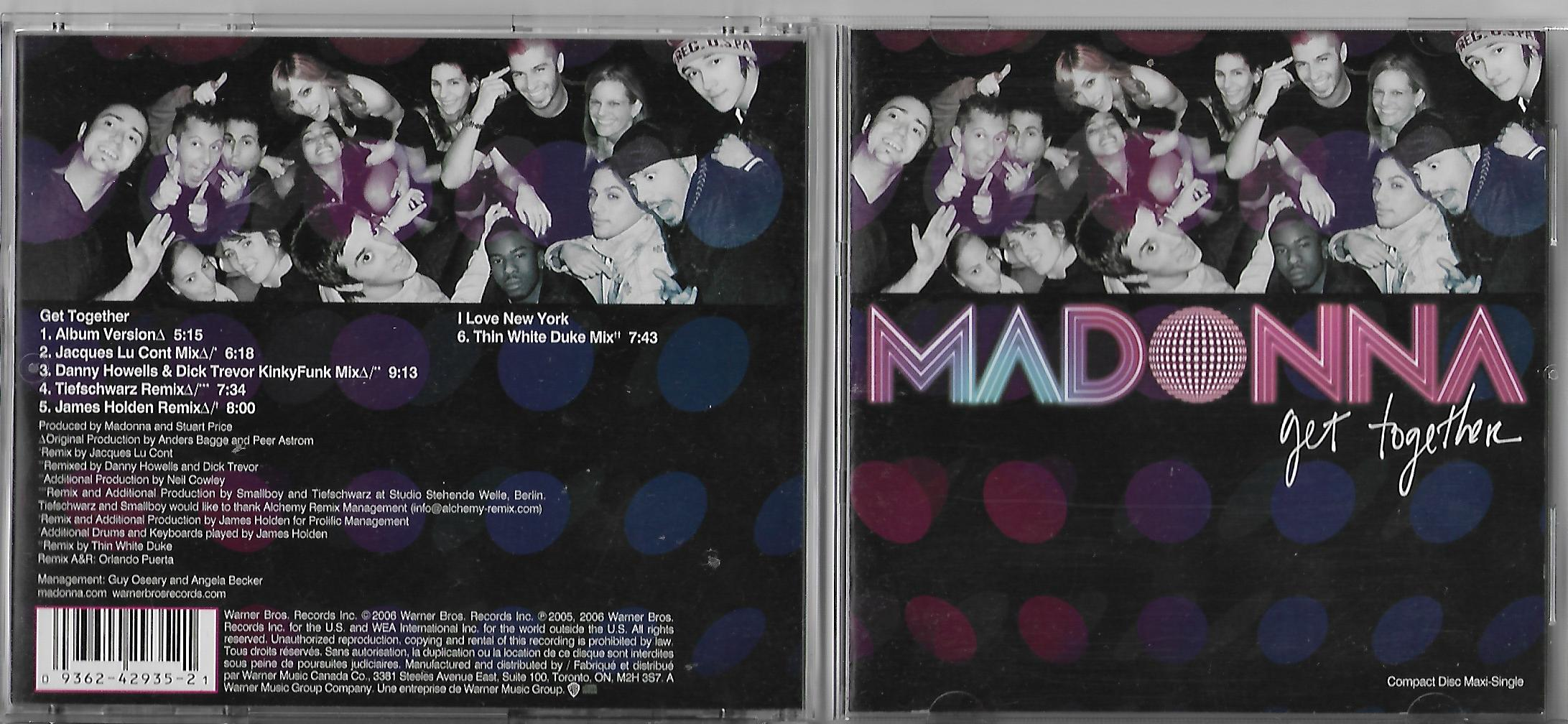 MADONNA - Get Together 6-track Jewel Case