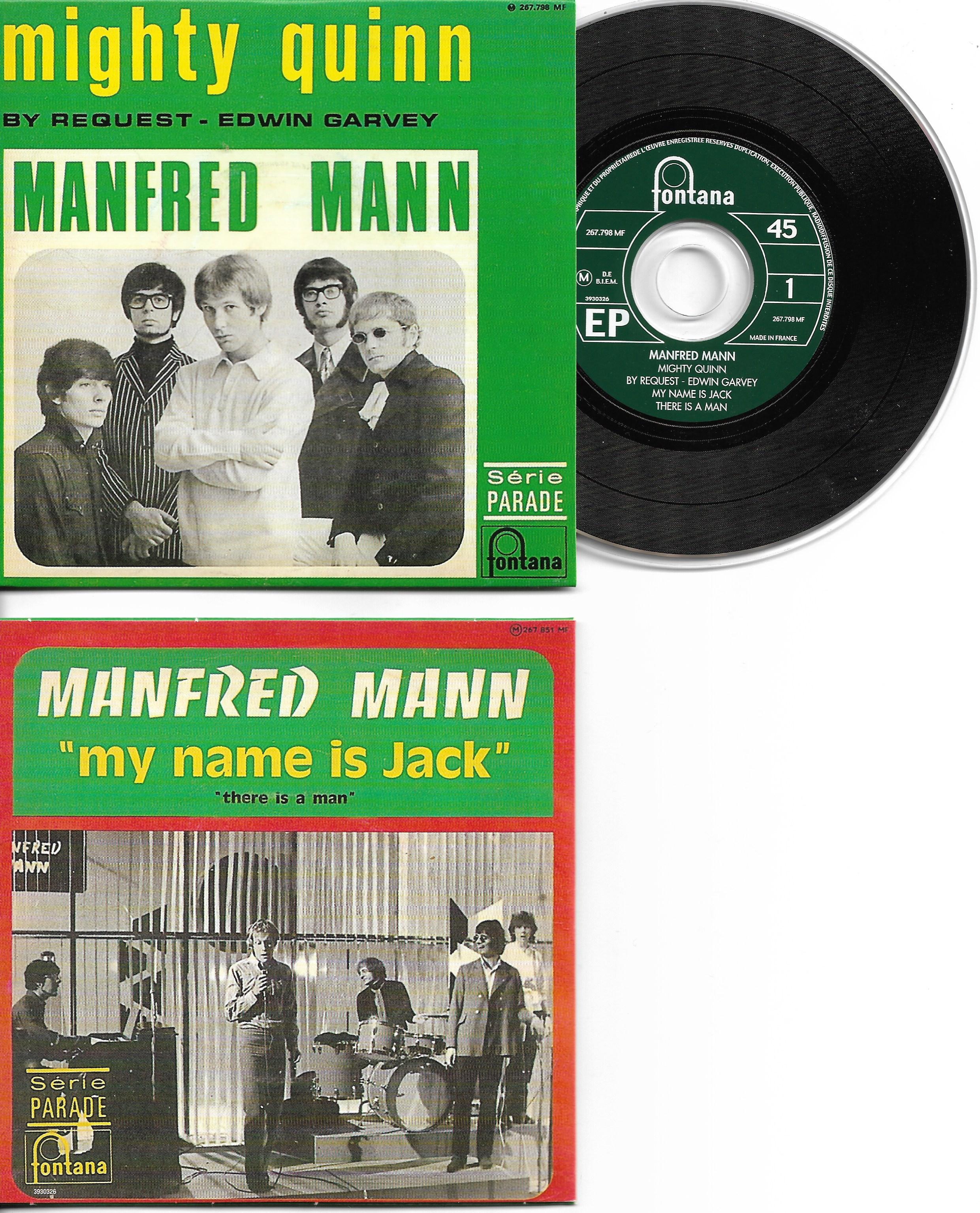 MANFRED MANN - Mighty Quinn 4-track Card Sleeve - French Sleeve - Very Limited Edition
