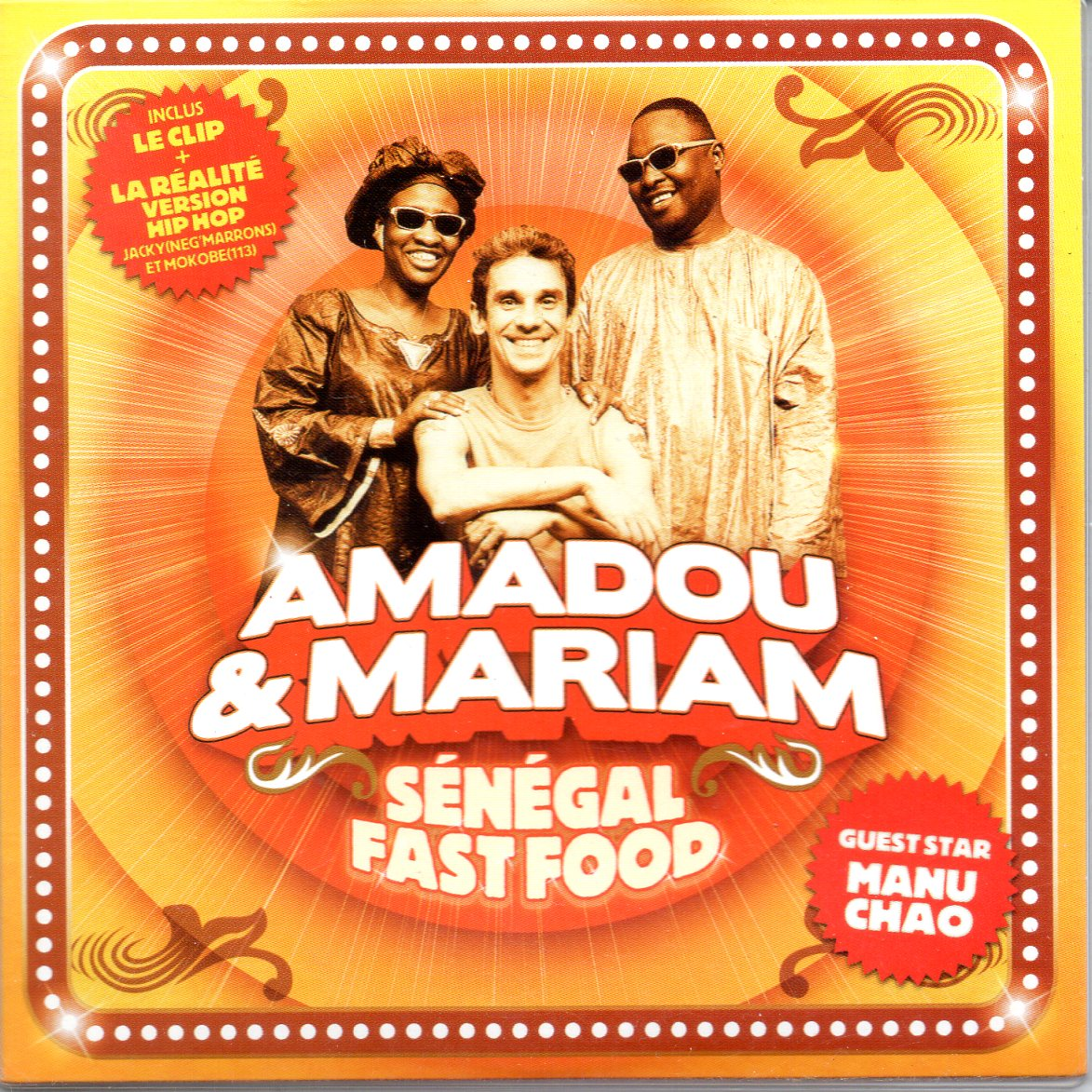 MANU CHAO & AMADOU & MARIAM - Senegal fast food 3-track CARD SLEEVE - CD single