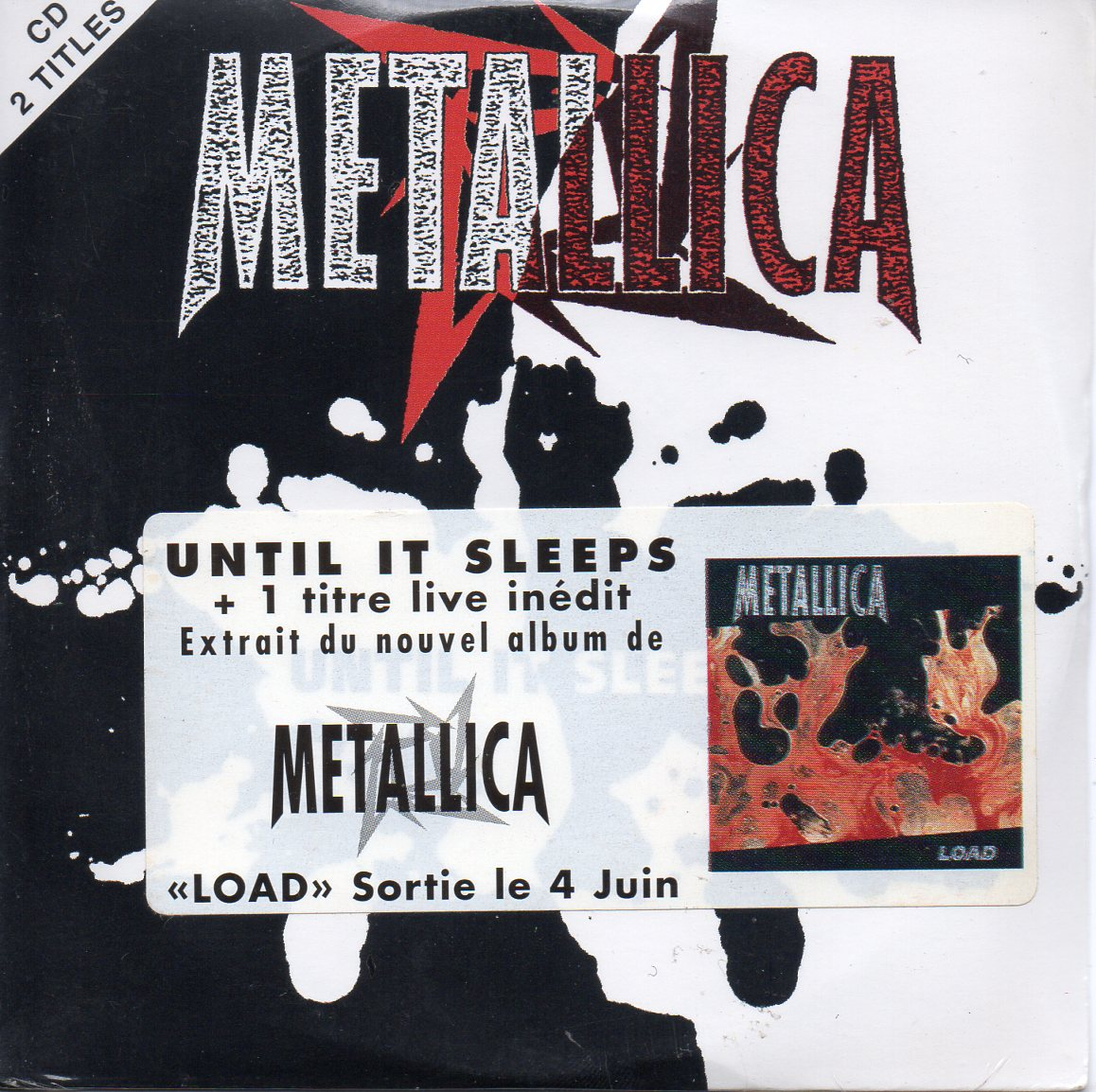 METALLICA - Until It Sleeps 2-track Card Sleeve With French Sticker