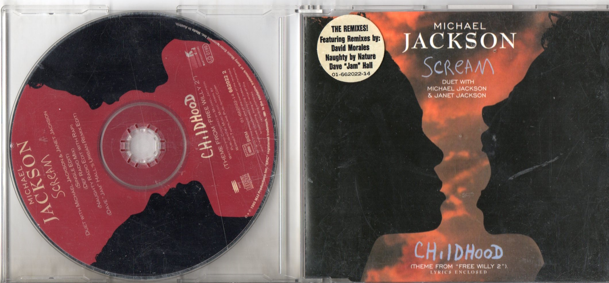 MICHAEL JACKSON & JANET JACKSON - Scream 5 tracks jewel case - CD Maxi
