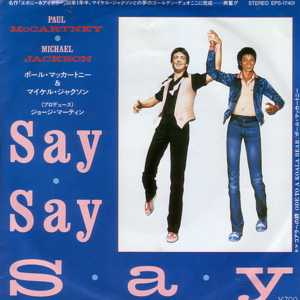 Michael JACKSON & Paul Mc Cartney - Say Say Say - Japon -